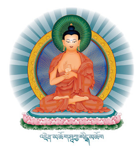 Teaching Buddha sticker