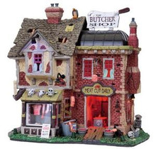 85663 - The Butcher Shop, with 4.5-Volt Adaptor - Lemax Spooky Town Halloween Village Houses & Buildings