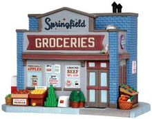 35575 - Springfield Groceries  - Lemax Jukebox Junction Christmas Houses & Buildings