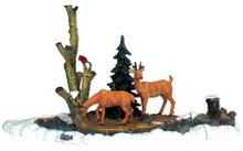 03327 -  Feeding Deer, Set of 3 -  Lemax Christmas Village Table Pieces
