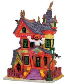 75492 - Nightmare on Oak Street, with Adaptor - Lemax Spooky Town Halloween Village Houses & Buildings
