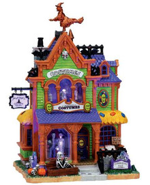 75494 - Agatha's Costume Crypt, with Adaptor - Lemax Spooky Town Halloween Village Houses & Buildings