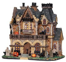 25444 - Haunted Manor  - Lemax Spooky Town Halloween Village Houses & Buildings