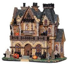 25444 - Haunted Manor  - Lemax Spooky Town Halloween Village Houses & Buildings