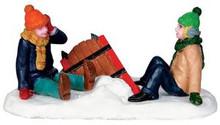 32129 - Sleigh Wreck  - Lemax Christmas Village Figurines