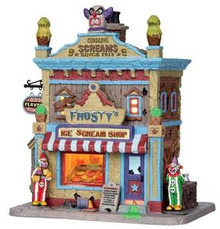 25370 - Frosty's Ice Scream Shop  - Lemax Spooky Town Halloween Village Houses & Buildings