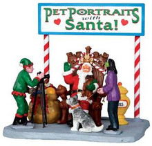 33031 - Pet Photos with Santa  - Lemax Christmas Village Table Pieces