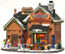 35574 - Li'l Shredders Board & Ski Shop  - Lemax Vail Village Christmas Houses & Buildings