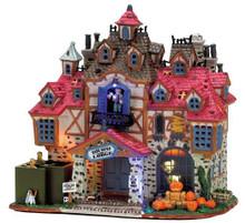 75499 - Dark Haven Lodge, with Adaptor - Lemax Spooky Town Halloween Village Houses & Buildings