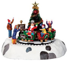 34631 - Santa's Kiddie Train, Battery-Operated (4.5v)  - Lemax Christmas Village Table Pieces
