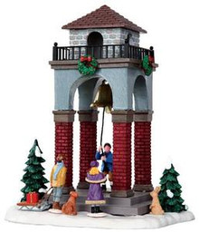 33015 - Ringing the Christmas Bell  - Lemax Christmas Village Table Pieces