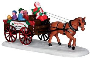 33032 - Santa's Wagon Ride  - Lemax Christmas Village Table Pieces