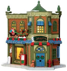 35527 - Nathaniel's Pharmacy  - Lemax Harvest Crossing Christmas Houses & Buildings