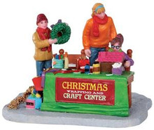 33017 - Gift Wrapping Together  - Lemax Christmas Village Table Pieces