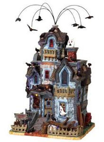 85665 - Abandoned House, with Adaptor - Lemax Spooky Town Halloween Village Houses & Buildings