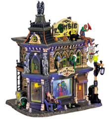 65346 - Zombie's Cafe, with Adaptor - Lemax Spooky Town Halloween Village Houses & Buildings