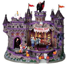 85669 - Halloween Party, with 4.5-Volt Adaptor - Lemax Spooky Town Halloween Village Houses & Buildings