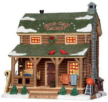 25389 - Big Cat Cabin  - Lemax Vail Village Christmas Houses & Buildings