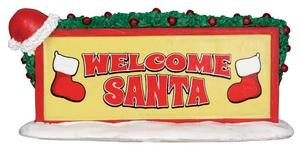 34613 - Welcome Santa Sign  - Lemax Christmas Village Misc. Accessories