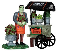 32114 - Graveyard Bouquets, Set of 2  - Lemax Spooky Town Halloween Village Figurines
