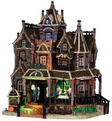 35550 - Creepy's Bed & Breakfast, with 4.5v Adaptor  - Lemax Spooky Town Halloween Village Houses & Buildings