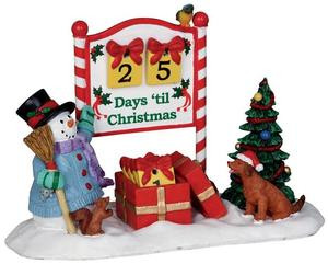 23968 - Countdown To Christmas, Set of 7  - Lemax Christmas Village Table Pieces