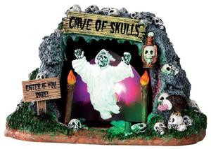 34602 - Cave of Skulls, Battery-Operated (4.5v)  - Lemax Spooky Town Halloween Village Accessories