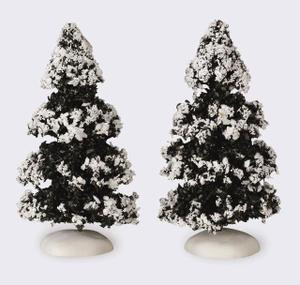 44234 - Evergreen Tree, Set of 2, Small - Lemax Christmas Village Trees