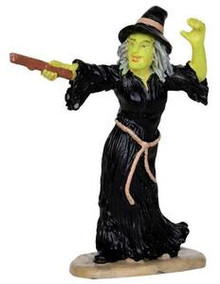 32117 - Witch Casts Spell  - Lemax Spooky Town Halloween Village Figurines
