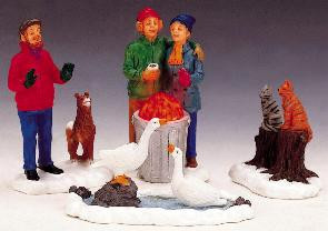 "24799 -  ""All Together Now!"" Set of 4, Battery-Operated (3v) - Lemax Christmas Village Table Pieces"