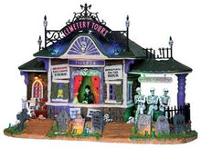 25327 - Spookytown villages Cemetery Tours, with 4.5v Adaptor  - Lemax Spooky Town Halloween Village Houses & Buildings