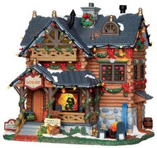 25338 - Pine Grove Lodge, with 4.5v Adaptor  - Lemax Vail Village Christmas Houses & Buildings