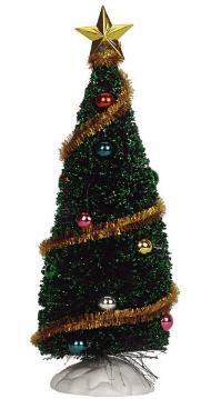 04493 -  Sparkling Green Christmas Tree, Medium -  Lemax Christmas Village Trees