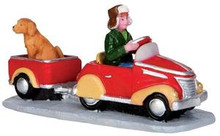 32142 - Pedal Car Hitchhiker  - Lemax Christmas Village Figurines