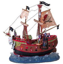 75572 - The Jolly Roger, with Adaptor - Lemax Spooky Town Halloween Village Houses & Buildings