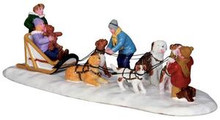 33024 - Neighborhood Dogsled Team  - Lemax Christmas Village Table Pieces