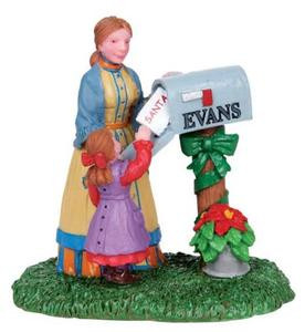 02803 - Letter for Santa -  Lemax Christmas Figurines