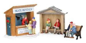 03849 - Skate Rentals, Set of 3 -  Lemax Christmas Village Table Pieces