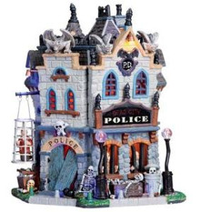 05001 - Dead City Police Station, with 4.5v Adapt - Lemax Spooky Town Houses