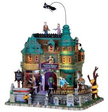 05016 - Doug M. Up Again Funeral Home, with 4.5v Adapt - Lemax Spooky Town Houses