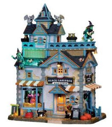 05005 - Black Cauldron Boo-tique,  with 4.5v Adaptor - Lemax Spooky Town Houses