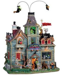 05017 - Little Monsters School House, with 4.5v Adapt - Lemax Spooky Town Houses