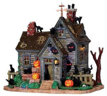 05109 - Vicki's Cattery, with 4.5v Adapter - Lemax Spooky Town Houses