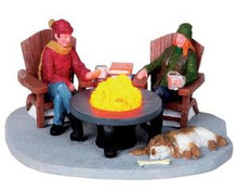 04238 - Around the Fire, B/O (4.5v) -  Lemax Christmas Village Table Pieces