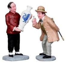 12909 - The Connoisseur, Set of 2 - Lemax Christmas Village Figurines