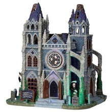 05010 - Forgotten Souls Cathedral, with 4.5v Adapt - Lemax Spooky Town Houses