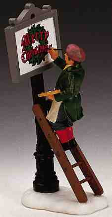 12527 -  Sign Painter - Lemax Christmas Village Figurines