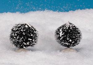 14007 - Round Bristle Tree, Set of 2, Small - Lemax Christmas Village Trees
