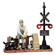 14334 - Railway Switchman, Battery-Operated (4.5v) - Lemax Spooky Town Halloween Village Accessories