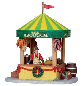 13901 - Produce Market Stall - Lemax Christmas Village Table Pieces